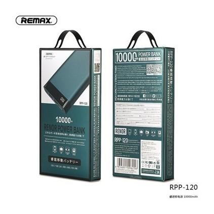 پاوربانک ریمکس مدل RENOR RPP-120 با ظرفیت 10000 میلی آمپر ساعت