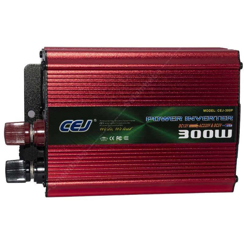 اینورتر (مبدل برق ) خودرو 300 وات مدل CEJ