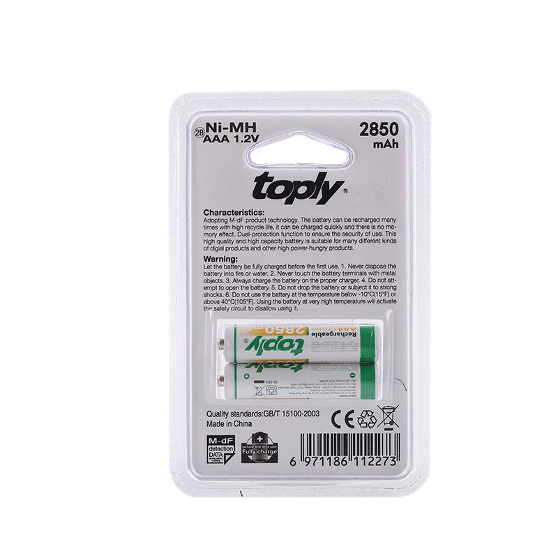 باتری نیم قلمی AAA معمولی Toply دو عددی
