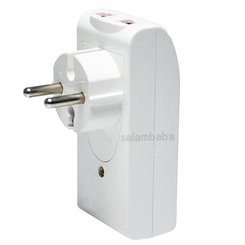 multifunction socket with 2 USB